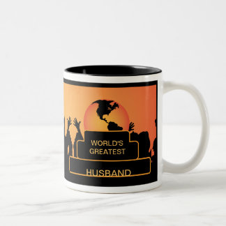 Husband Cheering World's Greatest Mug