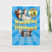 Husband Christmas Card - Love Squirrels