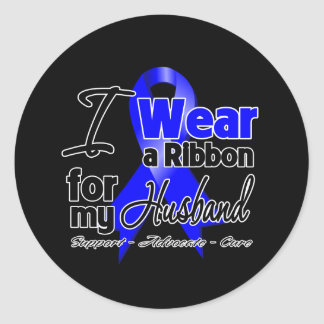 Husband - Colon Cancer Ribbon Stickers