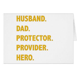 Husband, Dad Card