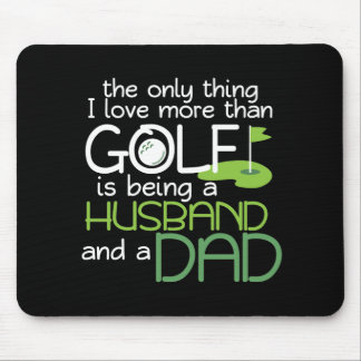 Husband Dad Golf Player Fathers Day  Sports Gift Mouse Pad