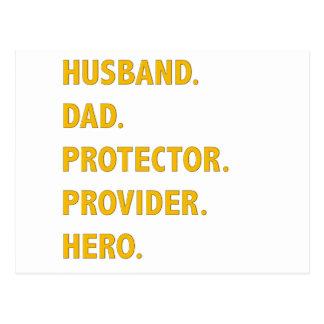 Husband, Dad Postcard