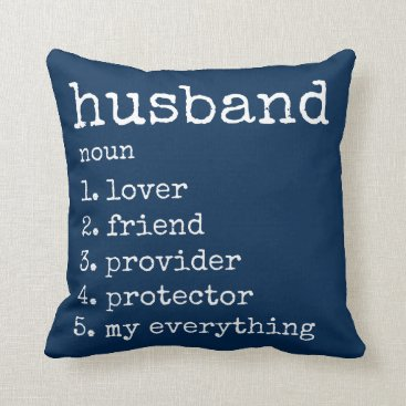 PrettyPillows Husband Definition Anniversary Gift Pillow