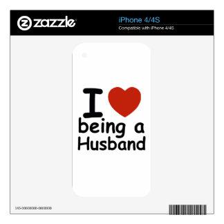 husband design iPhone 4S skin