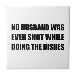 Husband Doing Dishes Ceramic Tile