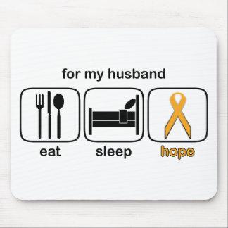 Husband Eat Sleep Hope - Leukemia Mouse Pad