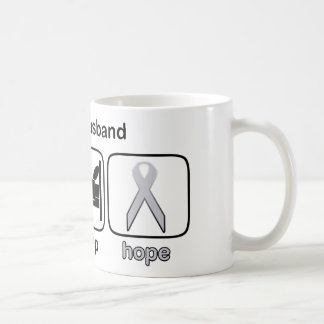 Husband Eat Sleep Hope - Lung Cancer Coffee Mug