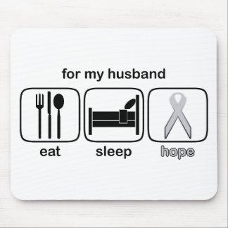 Husband Eat Sleep Hope - Lung Cancer Mouse Pad