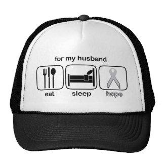 Husband Eat Sleep Hope - Lung Cancer Trucker Hat