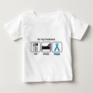 Husband Eat Sleep Hope - Lymphoma Baby T-Shirt