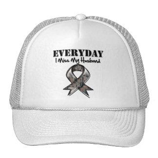 Husband - Everyday I Miss My Hero Military Trucker Hat