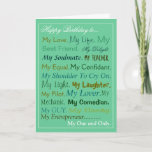 """Husband-Fiance-Boyfriend Birthday Card lover card<br><div class=""""desc"""">From my word art collection of cards. quite popular.</div>"""
