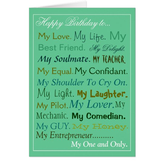 Birthday Wishes For Boyfriend And Boyfriend Birthday Card: Husband-Fiance-Boyfriend Birthday Card Lover Card