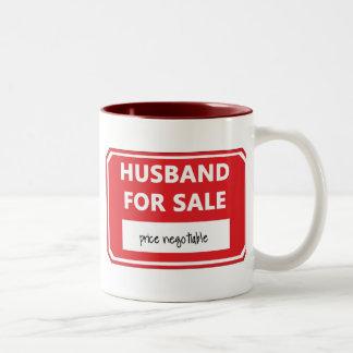 Husband for sale Two-Tone coffee mug
