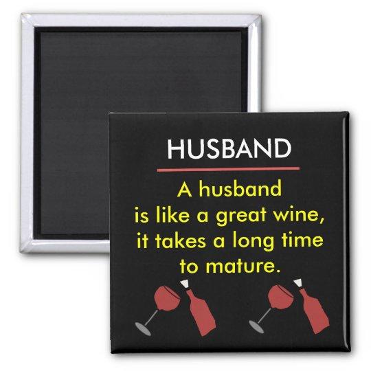 HUSBAND Funny Wine Magnet