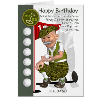 Husband Golfer Birthday Greeting Card With Humor