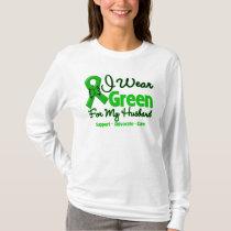 Husband - Green  Awareness Ribbon T-Shirt