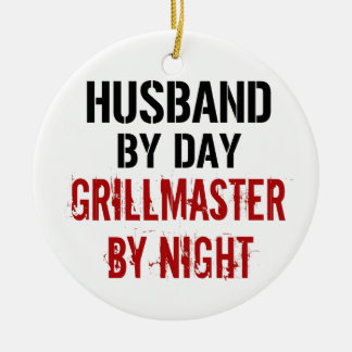 Husband Grillmaster Ceramic Ornament
