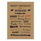 Husband Happy Birthday Words of Praise Card