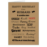 Husband Happy Birthday Words of Praise Greeting Card