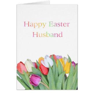 Husband Happy Easter Tulip card