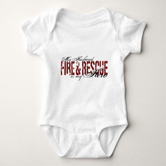 Husband Hero - Fire & Rescue Baby Bodysuit