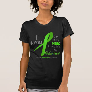 Husband Hero In My Life - Lymphoma Tee Shirt