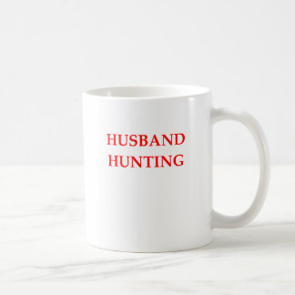 husband hunting classic white coffee mug