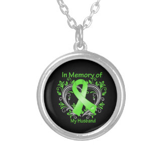 Husband - In Memory Lymphoma Heart Necklace