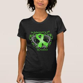 Husband - In Memory Lymphoma Heart Tshirt
