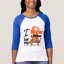 Husband - Leukemia Ribbon T-Shirt