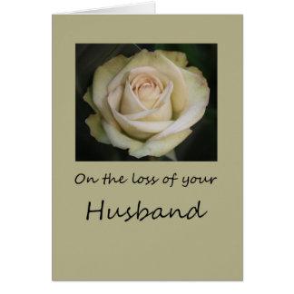 Husband loss Rose sympathy Card