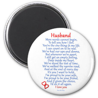 Husband Love 2 Inch Round Magnet