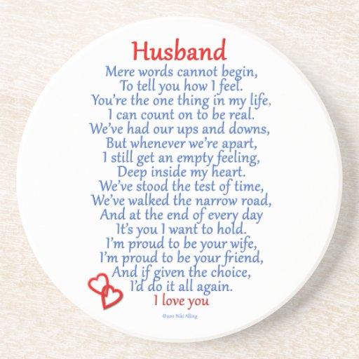 Husband Love Drink Coasters