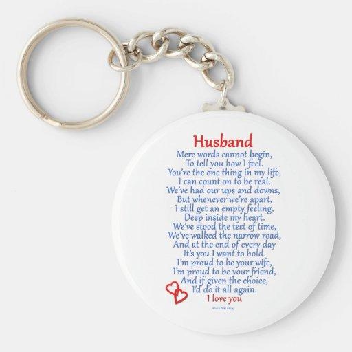 Husband Love Keychain
