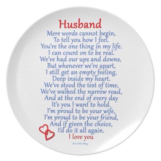 Husband Love Melamine Plate
