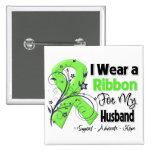 Husband - Lymphoma Ribbon 2 Inch Square Button