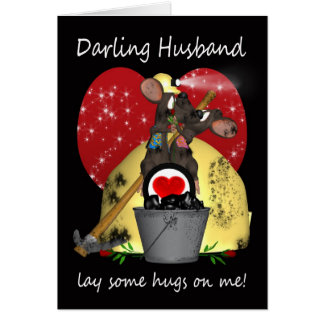 Husband - Mining Mice Valentine's Day Card - Miner