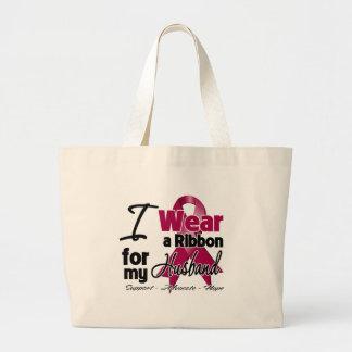 Husband - Multiple Myeloma Ribbon Tote Bags