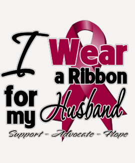 Husband - Multiple Myeloma Ribbon T Shirt