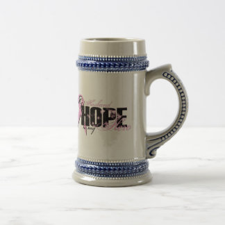 Husband My Hero - Breast Cancer Hope Beer Stein