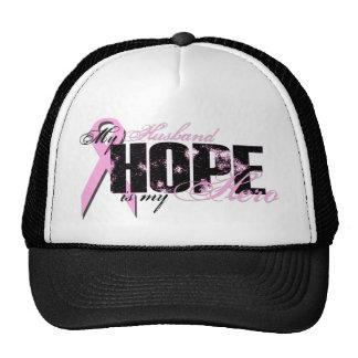 Husband My Hero - Breast Cancer Hope Trucker Hat