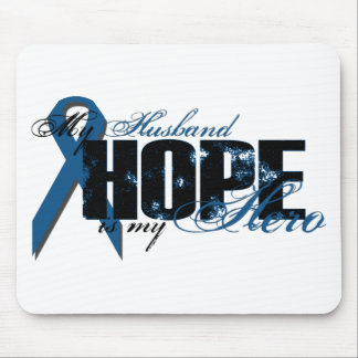 Husband My Hero - Colon Cancer Hope Mouse Pad