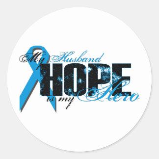 Husband My Hero - Prostate Hope Classic Round Sticker