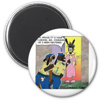 Husband Neutered Funny Dog Or Police Gifts & Tees Magnet