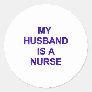 Husband Nurse Classic Round Sticker