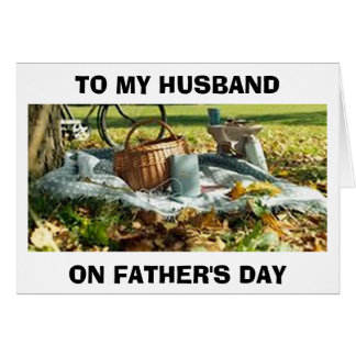 "HUSBAND-ON FATHER'S DAY ""LET'S CELEBRATE YOU"" CARD"