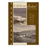 Husband On Your Birthday Coastal boats Cards