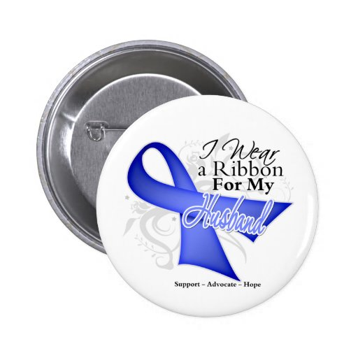 Husband Periwinkle Ribbon - Stomach Cancer Pins