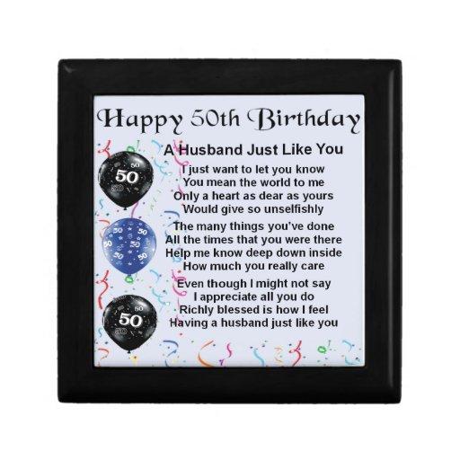 50 Birthday Wishes For Husband: Husband Poem - 50th Birthday Keepsake Box